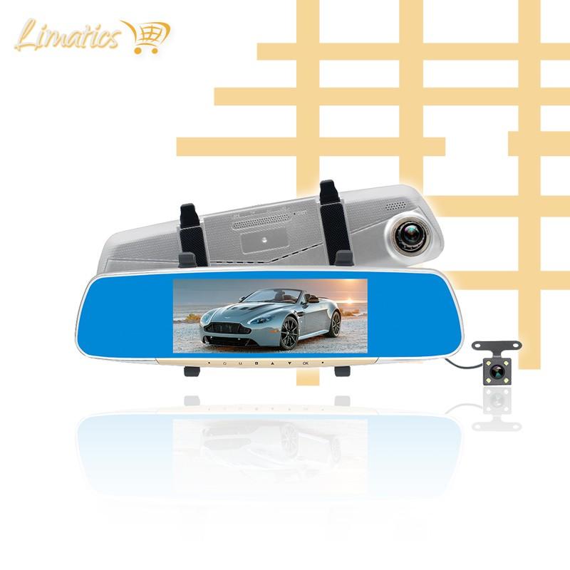 Cámara Full HD frontal y retroceso tipo espejo retrovisor H12 Limatics - 1