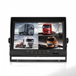 Quadview Monitor for truck AHD cameras 9""