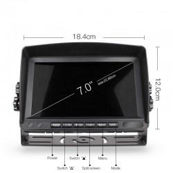 """Monitor para cámaras de maquinaria pesada 7"""" Limatics - 3"""