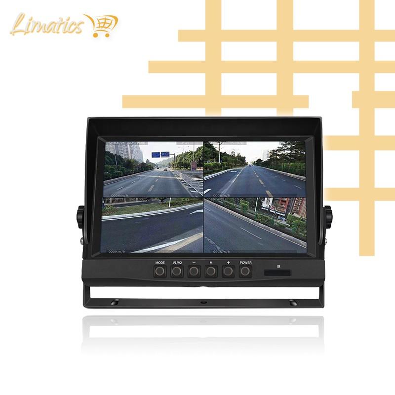 """Monitor Quadview para cámaras de maquinaria pesada 9"""" Limatics - 4"""